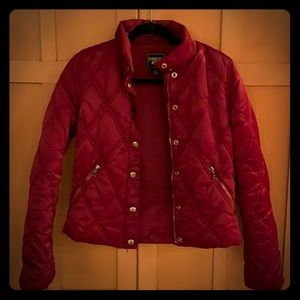 Sexy Red Guess Puffer, Think Valentine's Day ❤️